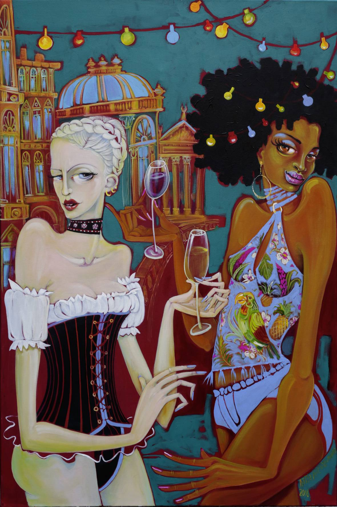Cafe´ Berlin 2018_Ebony and Ivory_120x80